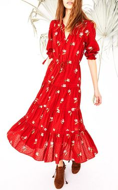 Floral Clementine Dress by ULLA JOHNSON for Preorder on Moda Operandi