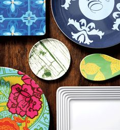 Tapestry dinner plate and Isis salad server featured in Philadelphia Style Magazine