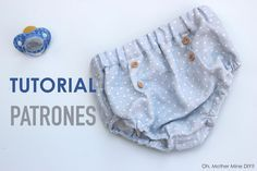 FREE bloomers pattern (in Spanish) Sewing Baby Clothes, Baby Sewing, Doll Clothes, Knitting For Kids, Sewing For Kids, Short Bebe, Mix Clothing, Baby Kids, Baby Boy