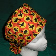 LITTLE WITCHES Halloween Scrubs Scrub Caps Women Pixie Hat Fun Surgical Hats OR Cap Hospital Hats