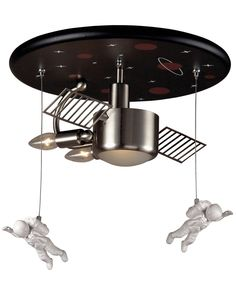 whimsical lighting fixtures. ELK Novelty 3Light Astronaut Flush Mount In Satin Nickel Fun For All Ages These Whimsical Lighting Fixtures Will Put A Smile On You Or Your Cu2026