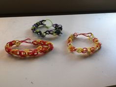 Fall/Halloween rainbow loom bracelets