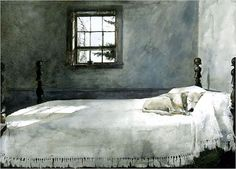 I have always loved this painting  andrew-wyeth-master-bedroom-