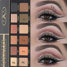 Pinterest @IIIannaIII Makeup By Mario Palette, Make Beauty, Glitter Makeup, Makati, Do It Yourself Home, Beauty Supply, Eye Make Up, Eyeshadow Palette, Makeup Looks