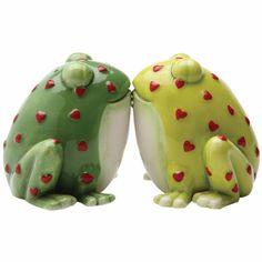 Kissing Frogs Salt and Pepper Shaker Set