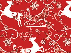 Sleigh Ride 18 inch ftGift Wrap Half Ream Roll 1 unit 1 pack per unit >>> Continue to the product at the image link. White Reindeer, Reindeer And Sleigh, Christmas Gift Wrapping, Christmas Gifts, Christmas Decorations, Christmas Ideas, Wrap Pattern, Paper Gifts, Small Gifts