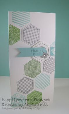 Happily Ever Crafter: FREE Card-Six Sided Sampler-Stampin' Up! Created by Angie Britt; Stampin' Up! Demonstrator