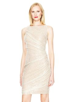 CARMEN MARC VALVO Sleeveless Knee Legnth Dress $199.99