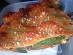 Lasagha de carne y espinacas