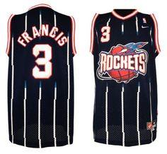 d0746e785747 Adidas NBA Houston Rockets 3 Steve Francis Soul Throwback Swingman Blue  Jersey Soccer Jerseys