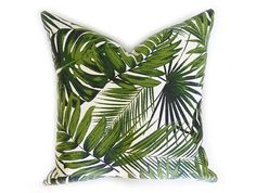 Kentia Palm Leaf Pillow Cover