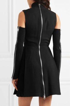 Versus Versace - Cold-shoulder Cutout Knitted Dress - Black - IT