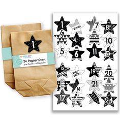 Papierdrachen Tütenset schwarz-weiß Nr 40