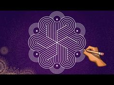 5*3 Padi KOLAM designs easy with dots Simple dots MUGGULU - YouTube