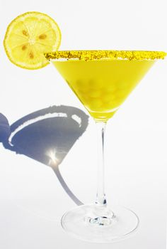 Halloween candy cacktail: the Lemonhead Drop. Cannot wait to make this!
