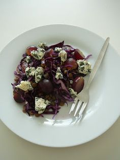 Delicious blog: Čočkový salát s červeným zelím