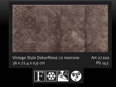 Bodenfliese Dekorfliese SKP Italian Style Vintage 72 marrone / braun 36/72 cm | eBay