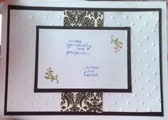 Condolences card