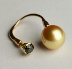 Apriati black diamond/sweetwater pearl