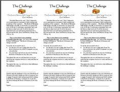 "Seminary - Take the Book of Mormon challenge - printable bookmarks - ""The Book of Mormon will Change your Life"" Ezra Taft Benson"""