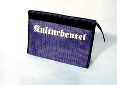 """Kulturbeutel"" - culture bag Card Holder, Culture, Wallet, Bag, Cards, Wash Bags, Pocket Wallet, Handmade Purses, Maps"