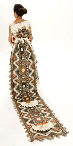 Tapa wedding dress (Made of Pasifika Bark Cloth in Queensland)