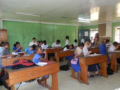 Classroom, Fiji| Find opportunities to teach, travel and volunteer with www.frontiergap.com | #education