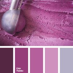 Monochrome color palette of cold shades of purple. Considered, that this color promotes concentration and focus. According to experts, color palette with a predominance of lavender is perfect for bathroom design.