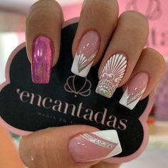 Das beste Krippenhandwerk für Kinder - New Ideas Cute Toe Nails, Cute Acrylic Nails, Pretty Nails, Lace Nail Art, Lace Nails, Nail Manicure, Gel Nails, Nagel Bling, Bride Nails
