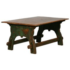 Painted Trestle Base Swedish Coffee Table  Sweden  1820-1840