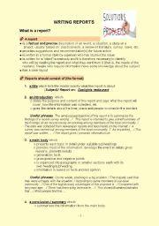 English worksheet: Writing reports