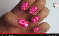 DIY: Breast Cancer Awareness Month | pink nails