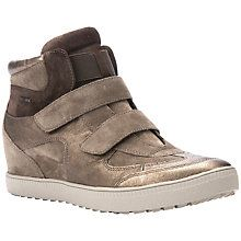 Geox Amarnth Wedge Heeled Trainers, Dove Leather johnlewis.com