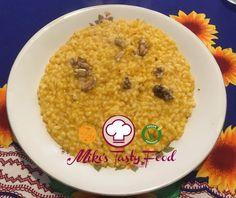 Risotto alla zucca e noci- Pumpkin risott with wlanuts- www.mikestastyfood.com