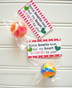 My Heart Bounces for You-25 Candy-Free DIY Gifts for All Your Valentines