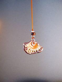 Small sea urchin stoneware and copper pendant by AurumgirlStudio