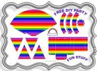 Free DIY Printable Party packs