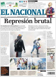 Portadas de la prensa de hoy en Venezuela