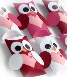 Kit Owl Pillow Treat Boxes Hearts Valentine's Day DIY 12 qty