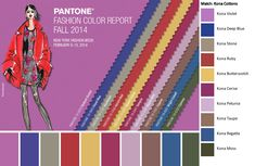Color Watch: Pantone Fall Fashion Report 2014