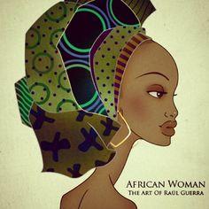 Art - African woman by Raul Guerra - Pagnifik