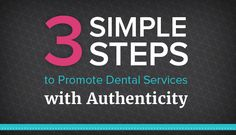 """You can sell yourself and your services without the icky """"salesy"""" stigma - learn how to promote dental services with authenticity in this post."""