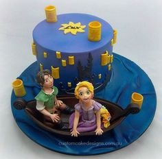 This Awesome Tangled Cake was made by Custom Cake Designs. This Disney Cake is based on the lantern scene from the movie where Rapunzel and Flynn Rider are ...