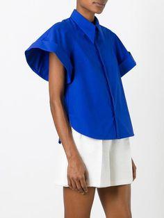 Delpozo camisa con manga ancha