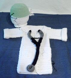 Newborn Crochet Doctor outfit/photo prop by UniqueAsIAm on Etsy