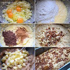 Appel-kaneel cake met noten - Laura's Bakery Mashed Potatoes, Healthy Recipes, Healthy Food, Oatmeal, Cakes, Vegetables, Breakfast, Ethnic Recipes, Om