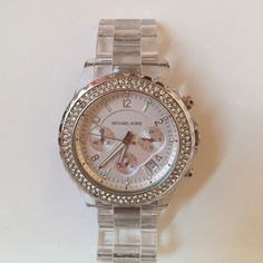 Clear Michael Kors Watch Clear Michael Kors Watch-- comes with extra links Michael Kors Jewelry