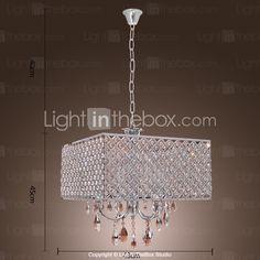 moderno hotel de 4 - Las luces de luz colgantes con gotas de cristal en la plaza - USD $ 224.99