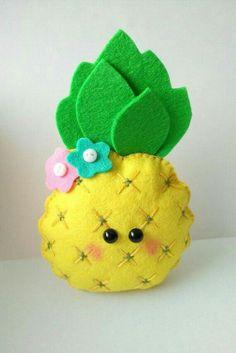 Felt pineapple ornament pattern Fruit toy DIY Nursery decor Baby's mobile toy Felt pineapple toy Felt food sewing PDF pattern pineapple - Handmade Everything Felt Crafts Diy, Felt Diy, Sewing Crafts, Handmade Ornaments, Felt Ornaments, Handmade Toys, Etsy Handmade, Diy Toys, Toy Diy