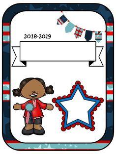School Binder Covers, Quiet Book Patterns, Kids Stickers, 5th Grades, Mini Books, Preschool Activities, Kindergarten, Family Guy, Clip Art